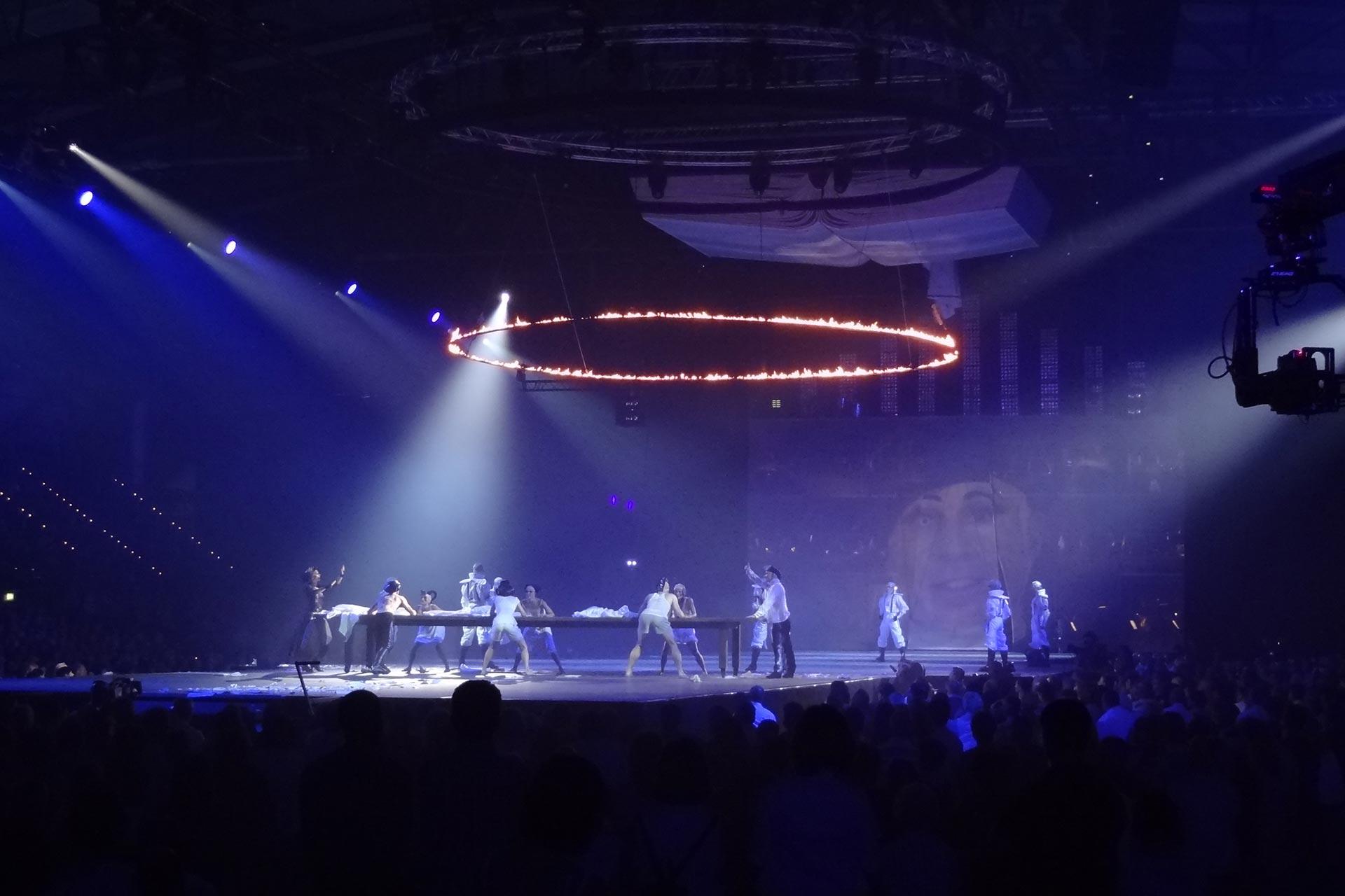 Bühnen-Pyroshow Indoor