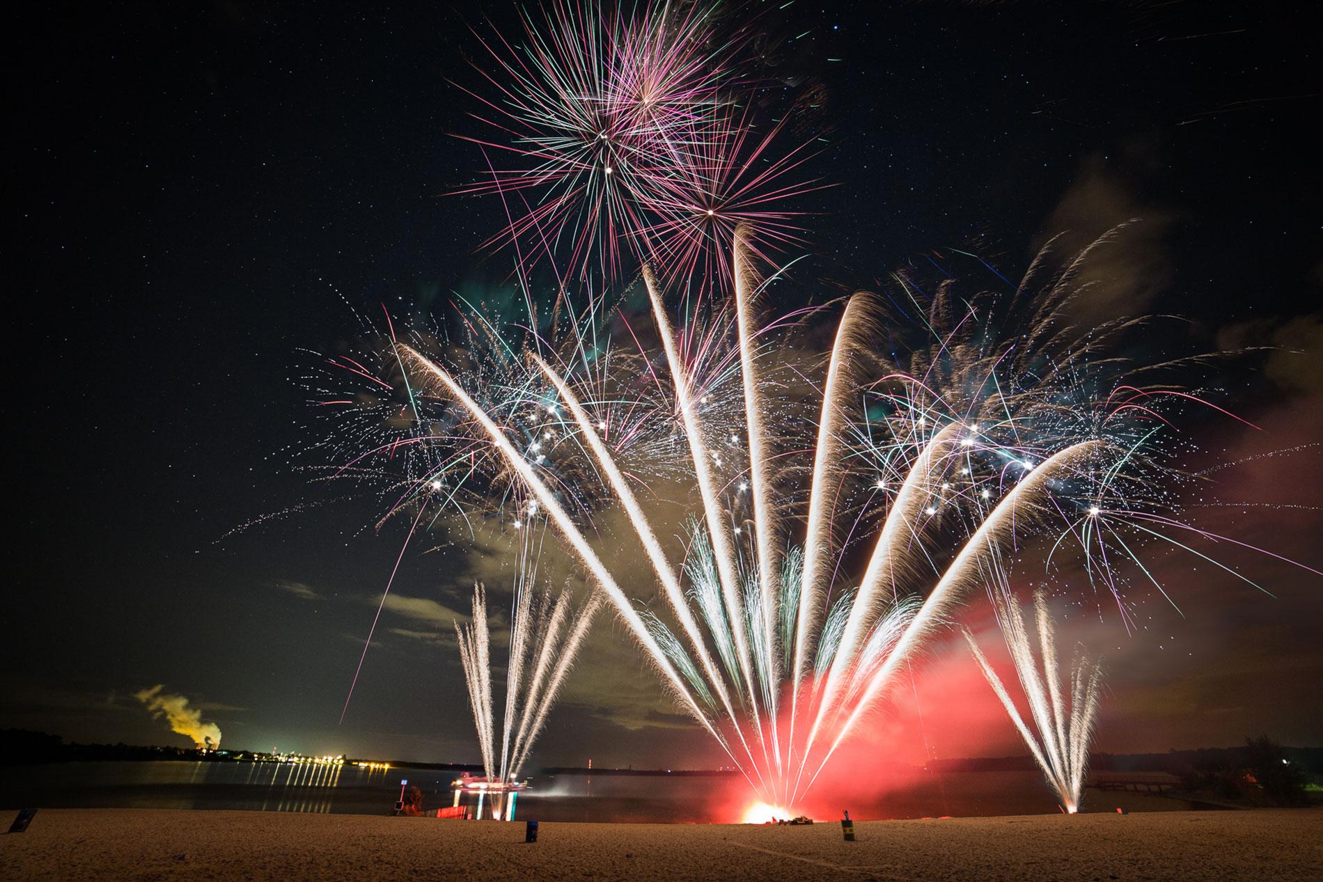 Feuerwerk für Hochzeiten und Geburtstage