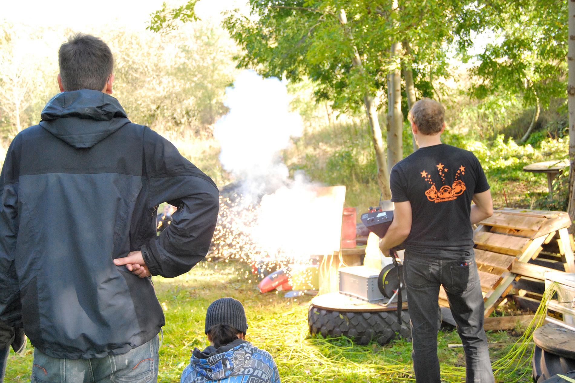Schulung für Pyrotechnik