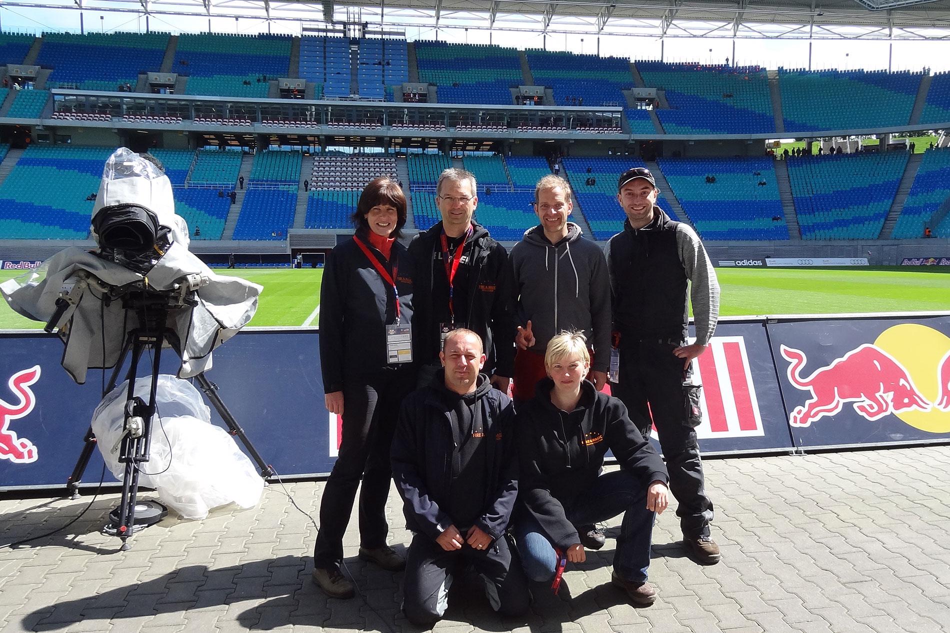 Das Effektteam für RB Leipzig