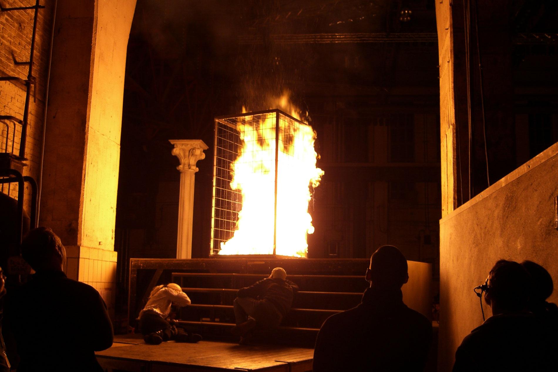 Feuerinszenierung für Theaterbühne