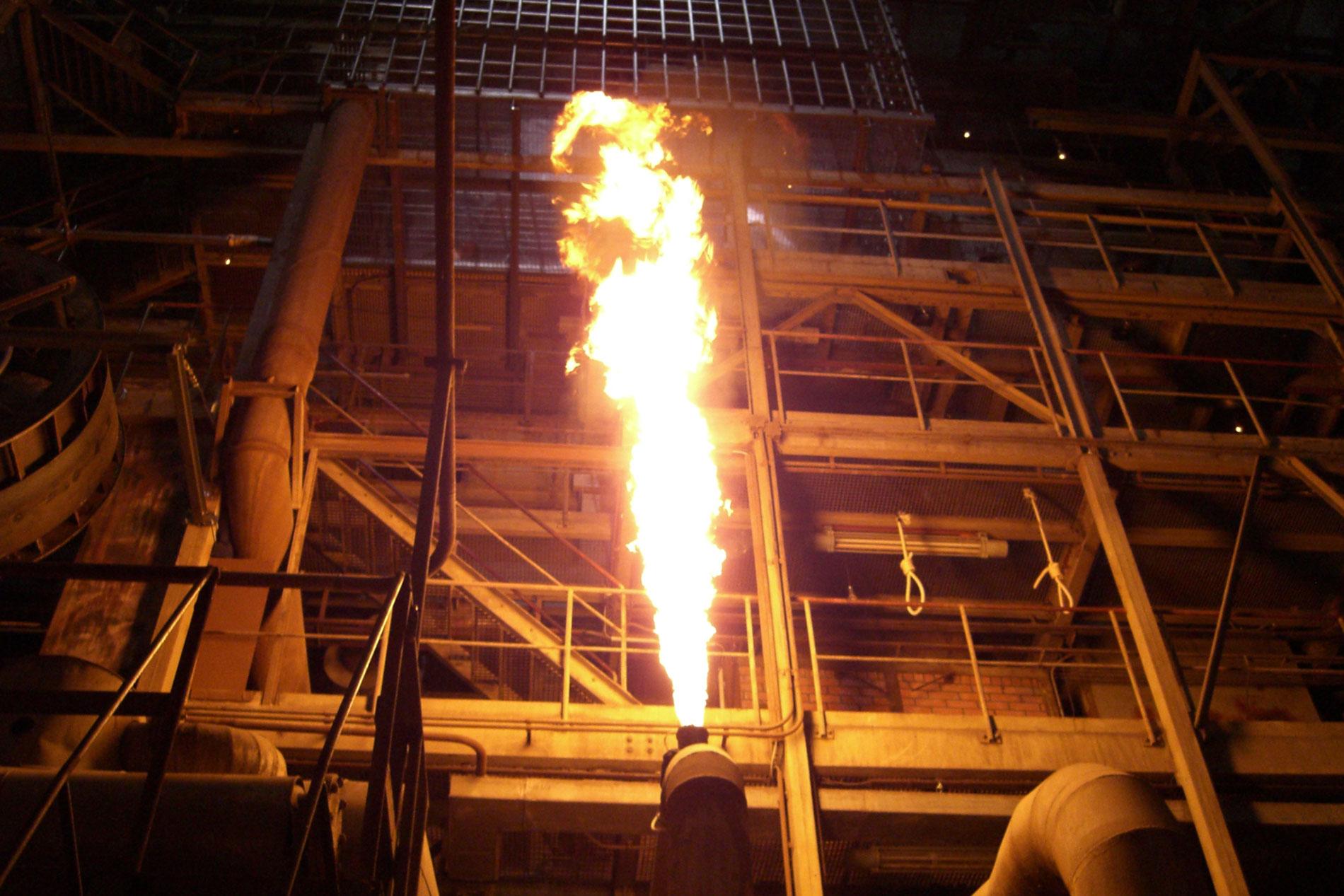 Flammensäule Open-Air-Inszenierung
