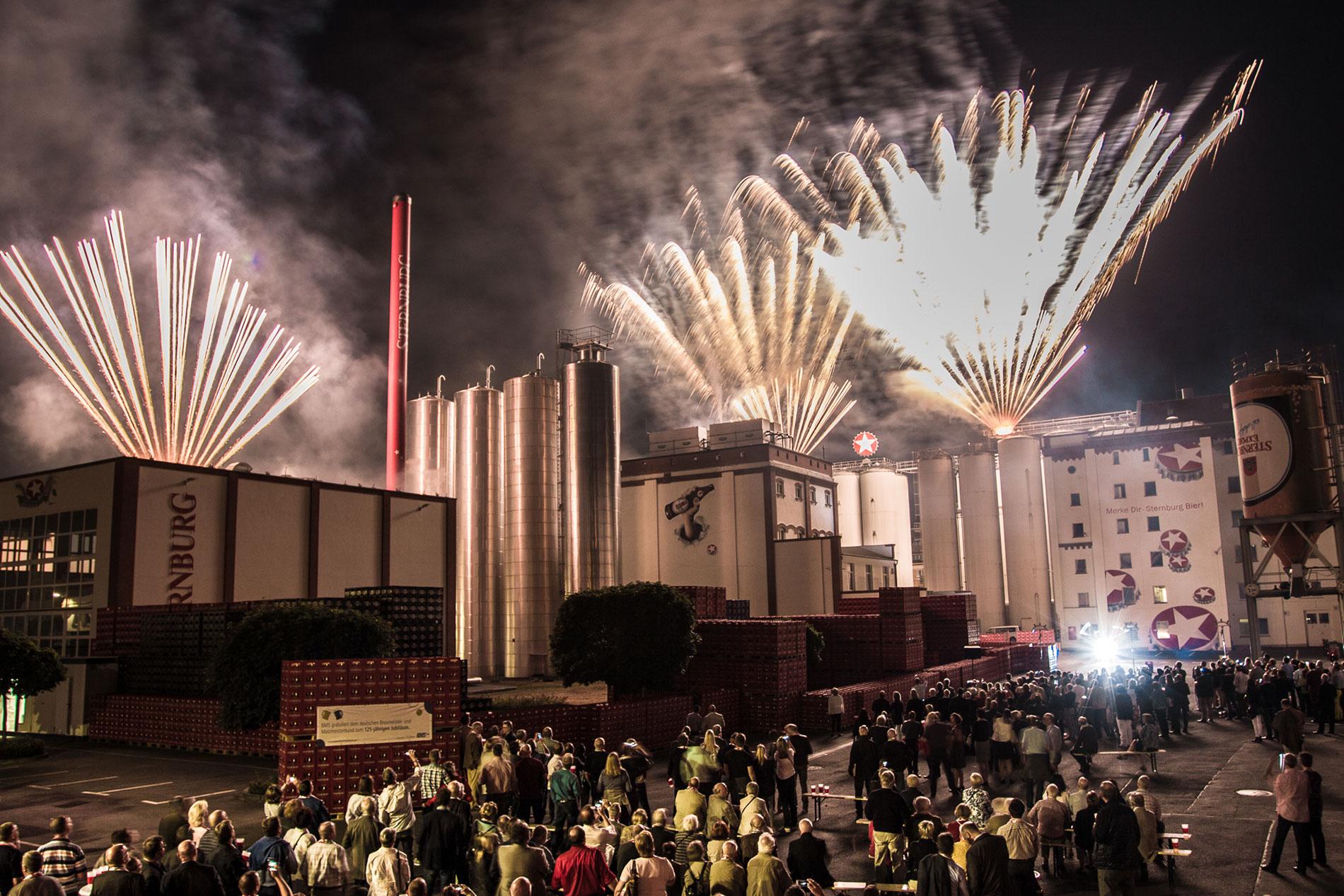 Sternburg Brauerei Feuerwerk