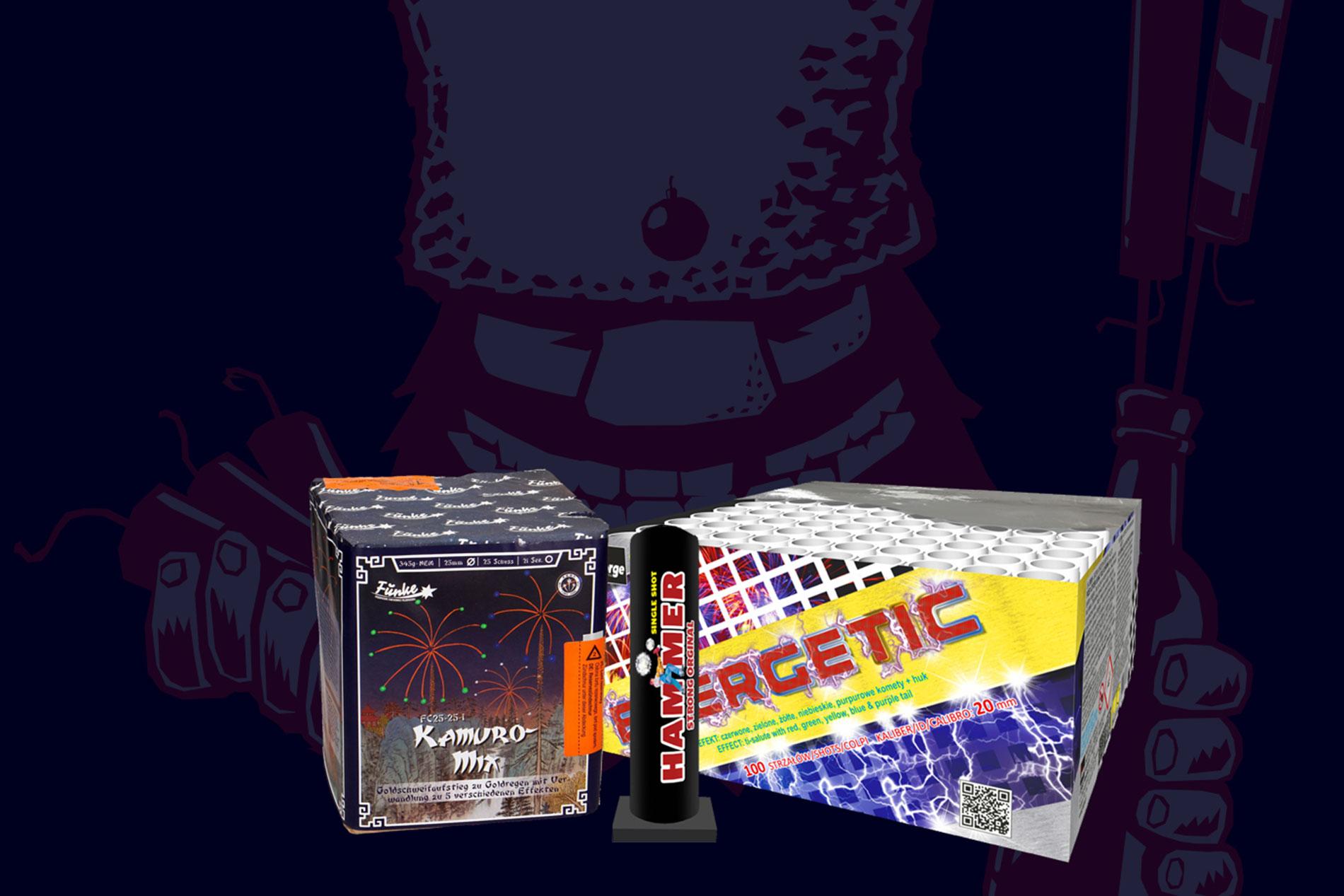Mega-Feuerwerksverkauf Produkte