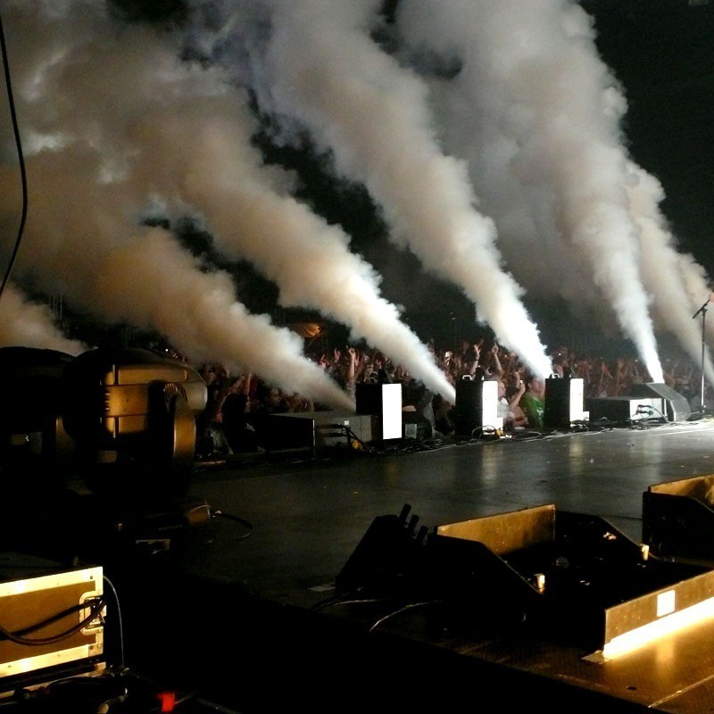 CO2 Jet Effect on Stage